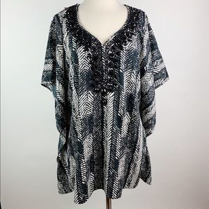 Chico's Embellished Top Size S/M